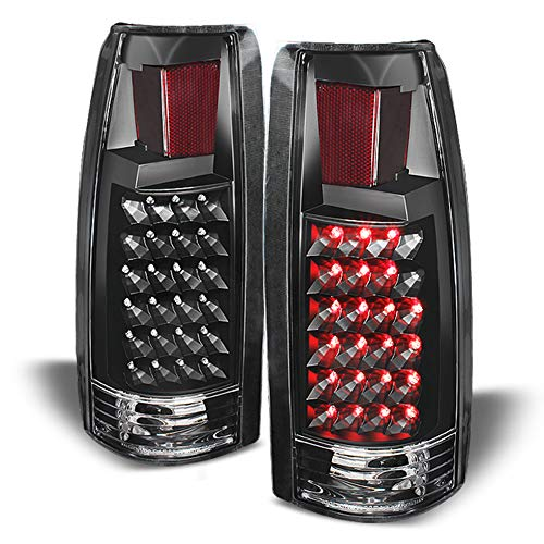 (ACANII - For Black 1988-1998 chevy Silverado C/K Suburban Tahoe Sierra LED Tail Lights Lamps Driver & Passenger Side)