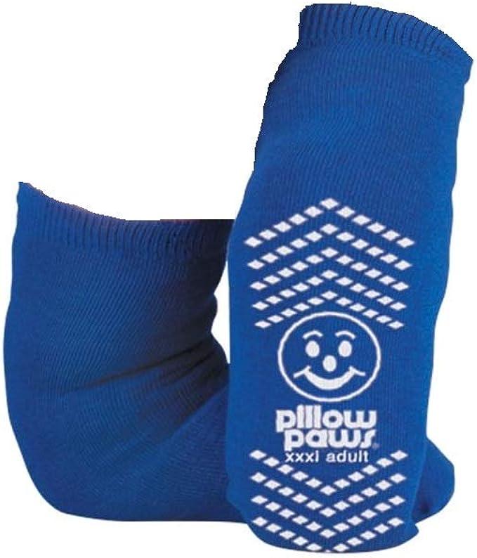 BARIATRIC SLIPPER SOCK NON SKID (3pk), 3X large, Blue