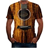 LONGDAY Unisex Stylish 3D Printed Graphic Short Sleeve T-Shirts for Women Men Summer Casual T Shirts Top Tees S-6XL Brown