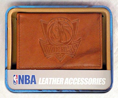 (Rico Industries NBA Dallas Mavericks Embossed Leather Trifold Wallet, Tan)