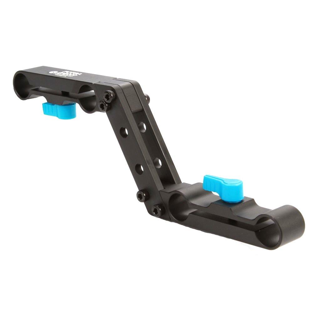 Fotga DP3000 Offset Raiser Z-shape Railblock Clamp Mount Bracket for 15mm Standard Rail Rod Camera Rig Set Shoulder Rigs by FOTGA