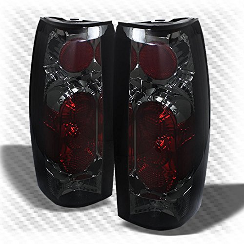 Xtune Smoked 1988-1998 Chevy/GMC Tahoe/Yukon Tail Lights Rear Lamp New Pair L+R 1989 1990 1991 1992 1993 1994 1995 1996 1997 (Light Lamp Tail New Tahoe)
