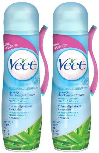 veet spray on hair removal cream instructions
