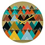 Deny Designs Brian Buckley, Tipi Mountain, Round Clock, Round, 12''