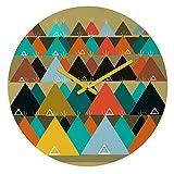 Deny Designs Brian Buckley, Tipi Mountain, Round Clock, Round, 12