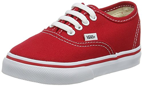 Vans Unisex AUTHENTIC Sneakers, Red, 9 M US Toddler