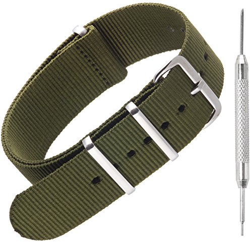 Nylon NATO Watch Straps by Sniper Bay | Military Style Divers Bands | 18mm...