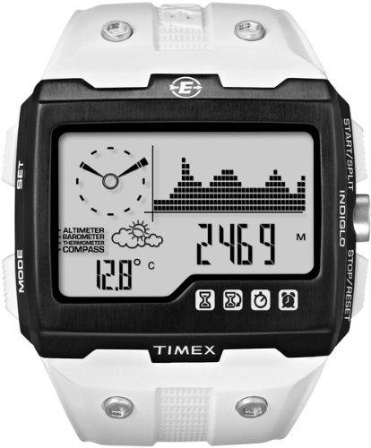 Timex T49759 - Reloj digital de caballero de cuarzo con correa blanca - sumergible a 200 metros: Amazon.es: Relojes