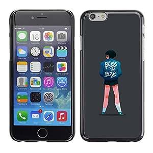 PC/Aluminum Funda Carcasa protectora para Apple Iphone 6 Boss Girl Quote Boys Street Style Fashion Art / JUSTGO PHONE PROTECTOR