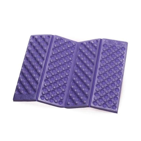 Omeny Outdoor schiuma giardino di campeggio pieghevole sedile impermeabile cuscino per sedia cuscino (viola) 1 spesavip