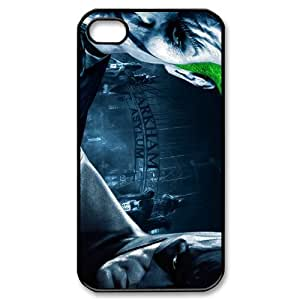 The Batman,Harley Quinn,the joker Personalized iPhone 4,4S Hard Plastic Shell Case Cover White&Black(HD image)