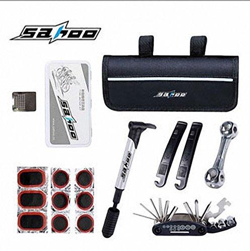 SAHOO Multi Function Bicycle Tire Repair Tools Kit Mini pump Puncture Portable Repair Kit by HIMOO (Image #1)