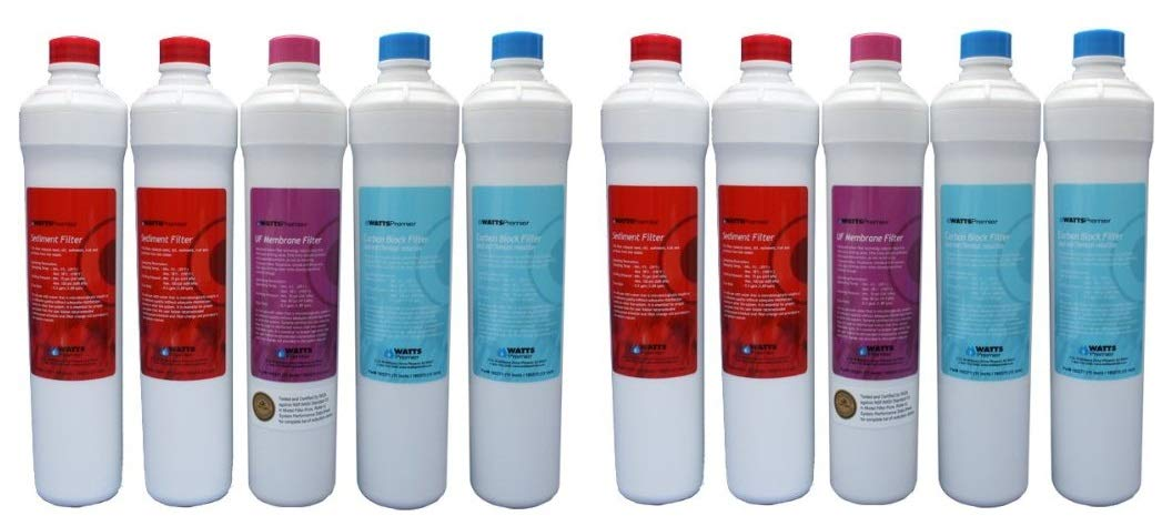 Watts Premier 560039 UF-3 Ultra Filtration 5-Filter Annual Water Filter Replacement Pack