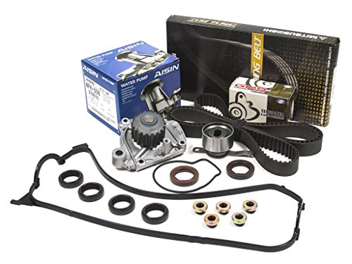 Evergreen TBK224MVCA Fits Honda Civic 1.6 D16Z6 VTEC Timing Belt Kit Valve Cover Gasket AISIN Water Pump