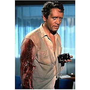 Secret Agent Danger Man Patrick McGoohan as John Drake Standing Wearing Bloody Shirt 8 x 10 Inch Photo