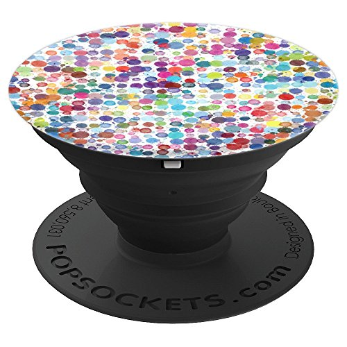 Abstract Dot - Psychedelic Abstract Colorful Dots Background Design Art - PopSockets Grip and Stand for Phones and Tablets