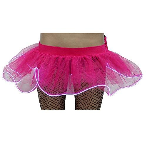 iYBUIA Women Fashion Party LED Mini Bubble Skirt Without Battery Gauze Fluffy Skirt