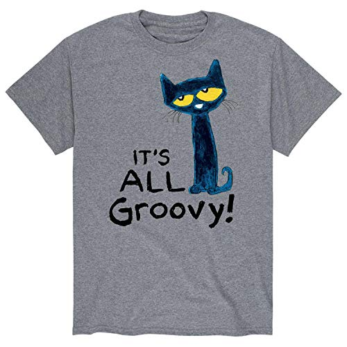 Adult Groovy Shirt - Pete the Cat It's All Groovy - Adult Short Sleeve Tee Athletic Heather