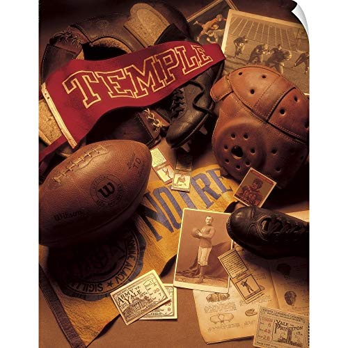 - CANVAS ON DEMAND Football Wall Peel Art Print, 24