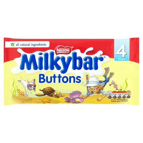 Nestle Milky Bar Buttons 4 Snack Packs