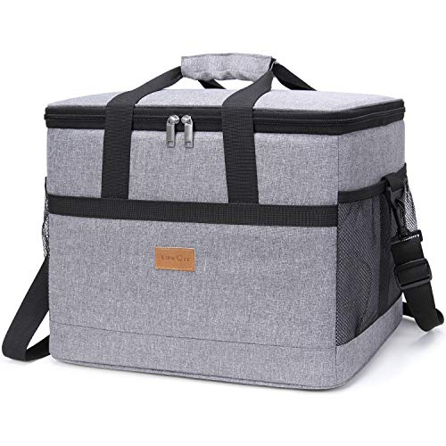 Lifewit 30L (50-Can) Soft Collapsible Cooler Bag Lunch Bag Box, Insulated Travel Bag, Soft-Sided Cooling Bag for Beach/Picnic/Camping/BBQ, ()