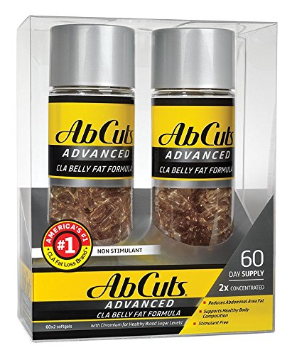 Ab Cuts Advanced CLA Belly Fat Formula, 2 x 60 Softgels---ADVANCED FORMULA (Weight Advanced Loss Formula)