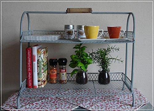 Etagere tischregal metall grau im vintage stil amazon küche