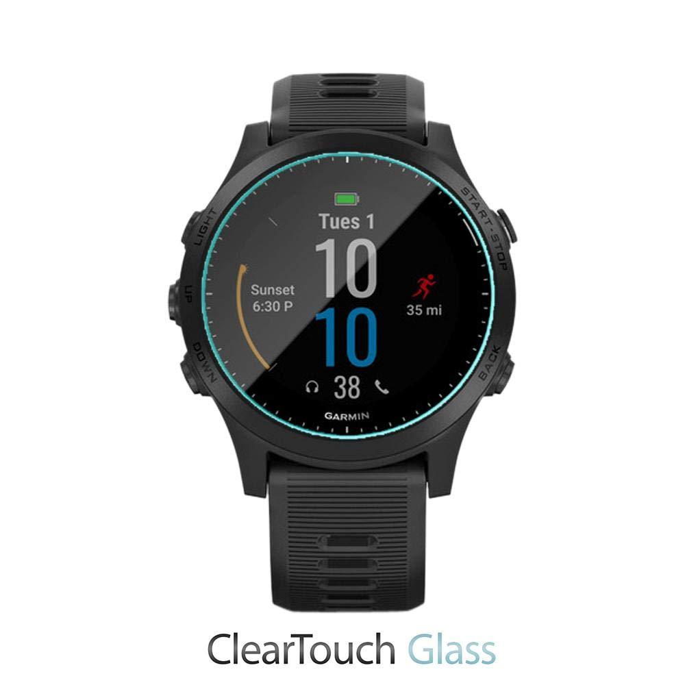 Forerunner 945 ClearTouch Glass BoxWave Garmin Forerunner 945 Screen Protector, 735XT 9H Tempered Glass Screen Protection for Garmin Fenix 5X Plus