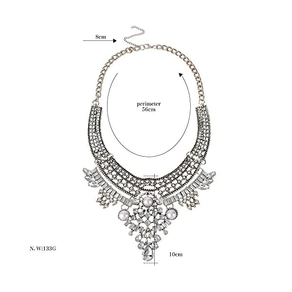 truecharms Fashion Jewelry Set Statement Necklace And Earrings For Women 4