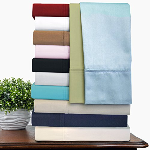 51dtD%2BVbncL - Impressions 100% Egyptian Cotton 300 Thread Count Deep-Fitting Pocket Soft and Smooth 4 Piece Sheet Set