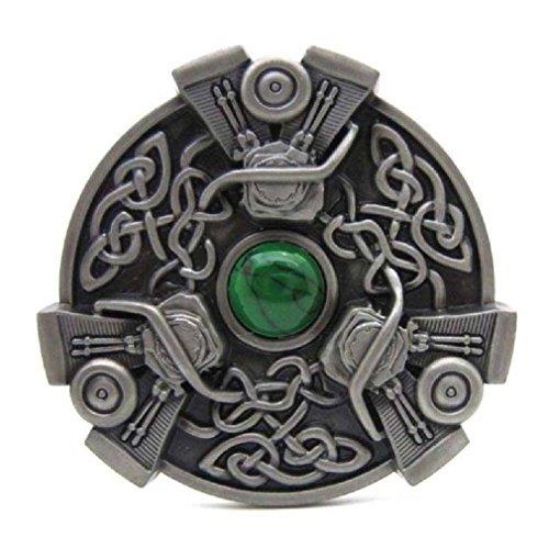 Trinity Celtic Irish Knot V-twin Engines Belt Buckle Mens Vintage Western