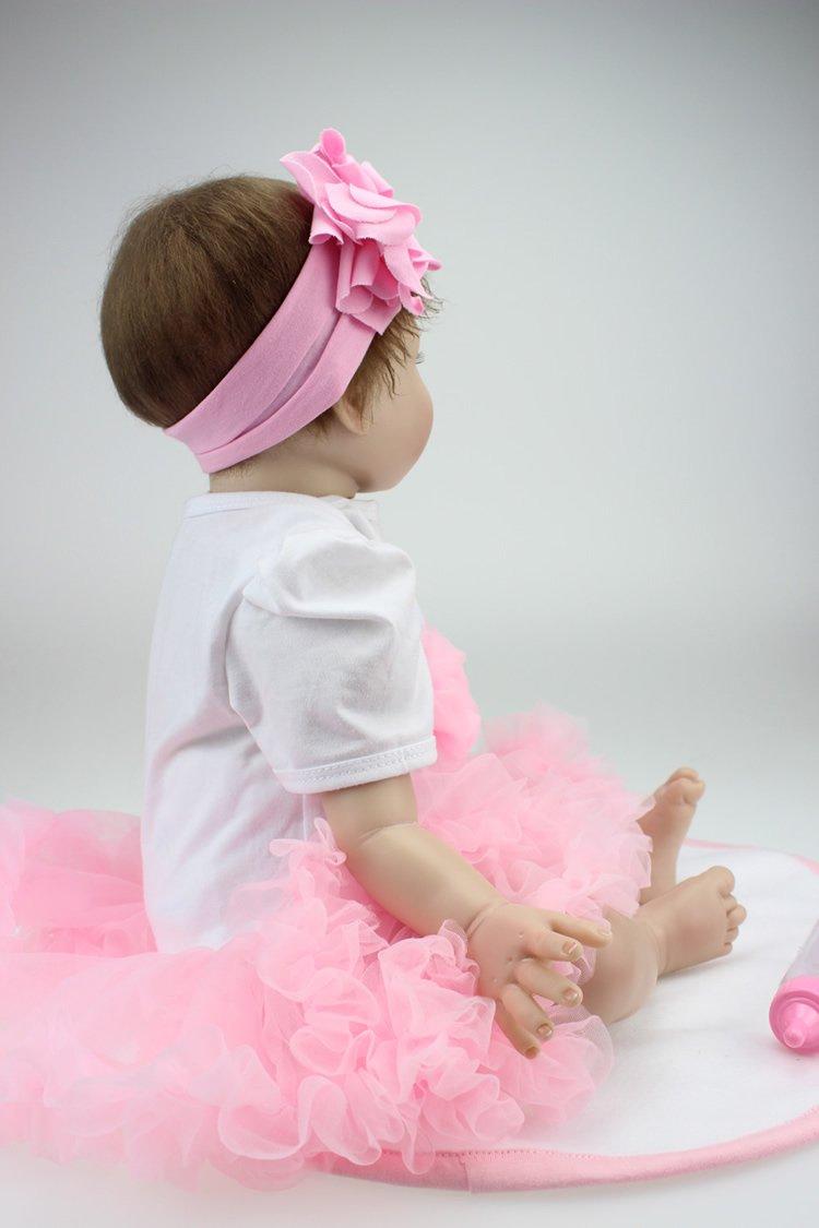 ZIYIUI 55 cm Realistic Reborn Baby Mu/ñecos Beb/é 22  Vinyl Newborn Baby Dolls Reci/én Nacido de Silicona Regalo