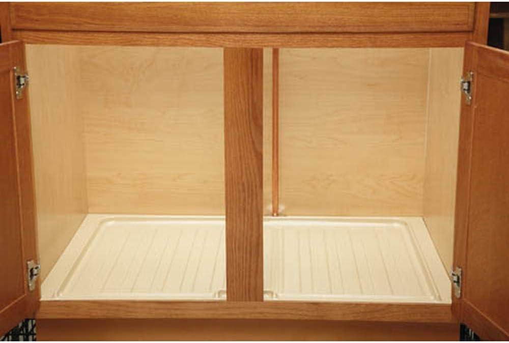 Rev A Shelf Sbdt 3336 A 1 Under Sink Base Drip Tray Mat Sink Shelf Liner Kitchen Cabinet Protective Organization Accessory Almond Home Kitchen Amazon Com