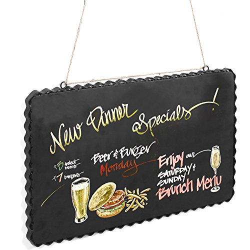 Scalloped Chalkboard Hanging Kitchen Magnets
