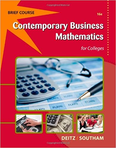 Contemporary business mathematics for colleges brief with printed contemporary business mathematics for colleges brief with printed access card 16th edition fandeluxe Gallery