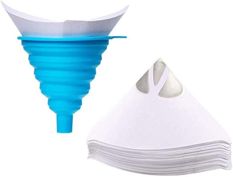#N//A 101er Lacksiebe Auto Lackfilter Farbsiebe Konisches Papier Lackierzubeh/ör Papierfilter f/ür Autolack Wassertransferdruck Einweg Lackfilter mit faltbarem Silikon Trichter -30/°C - +230/°C