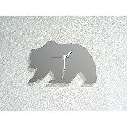 Grizzly Bear - Wild Life - Forest Animal - Modern Novelty Gift - Custom Acrylic Wall Clock