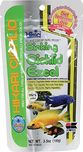 Hikari 3.5-Ounce Cichlid Excel Sinking Pellets for Pets, Mini