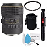 Tokina 100mm f/2.8 AT-X M100 AF Pro D Macro Autofocus Lens for Canon EOS (International Model) No Warranty+Deluxe Cleaning Kit + Lens Cleaning Pen + 55mm UV Filter + Deluxe Lens Pouch Bundle 7