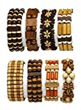Best CBD Birthday Gifts For Aunts - Wood Bracelets Boho Style Adjustable Unisex Set of Review