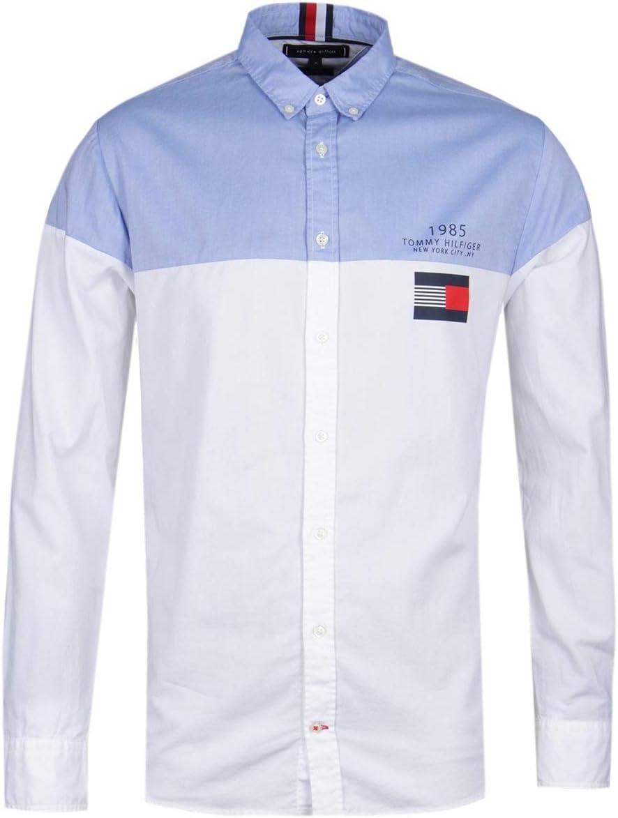 Tommy Hilfiger Camisa de Bloques de Color