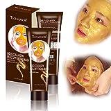 Collagen Gold Peel Off Facial Mask, Brightening Whitening Face Mask, Moisturizing Face Skin for Women Men, Anti-wrinkle Smoothing Oil-control, Shrink Pores, Christmas Gift