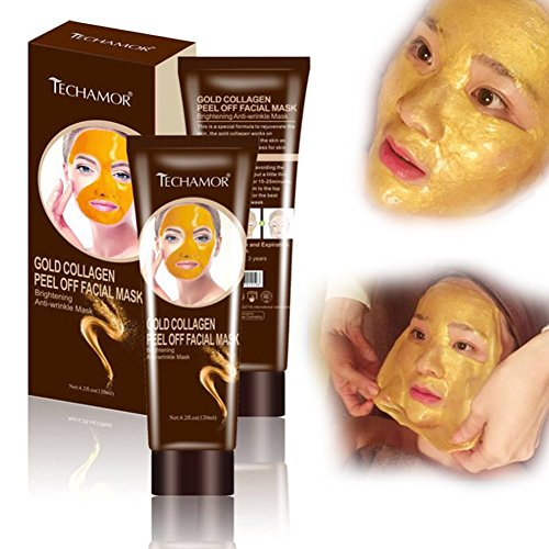 Golden Mask - Collagen Gold Peel Off Facial Mask, Brightening Whitening Face Mask, Moisturizing Face Skin for Women Men, Anti-wrinkle Smoothing Oil-control, Shrink Pores, Christmas Gift(Gold peel off face mask)