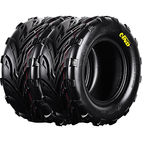 Qind QD-116 ATV Tires 16x7-8 4 Ply Load B Pack of 2 (Bumper Swing Rubber)