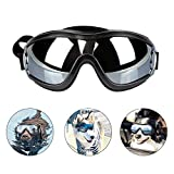 PEDOMUS Dog Goggles Dog Sunglasses Adjustable Strap Travel Skiing Anti-Fog Pet Goggles Medium to Large Dog-Black