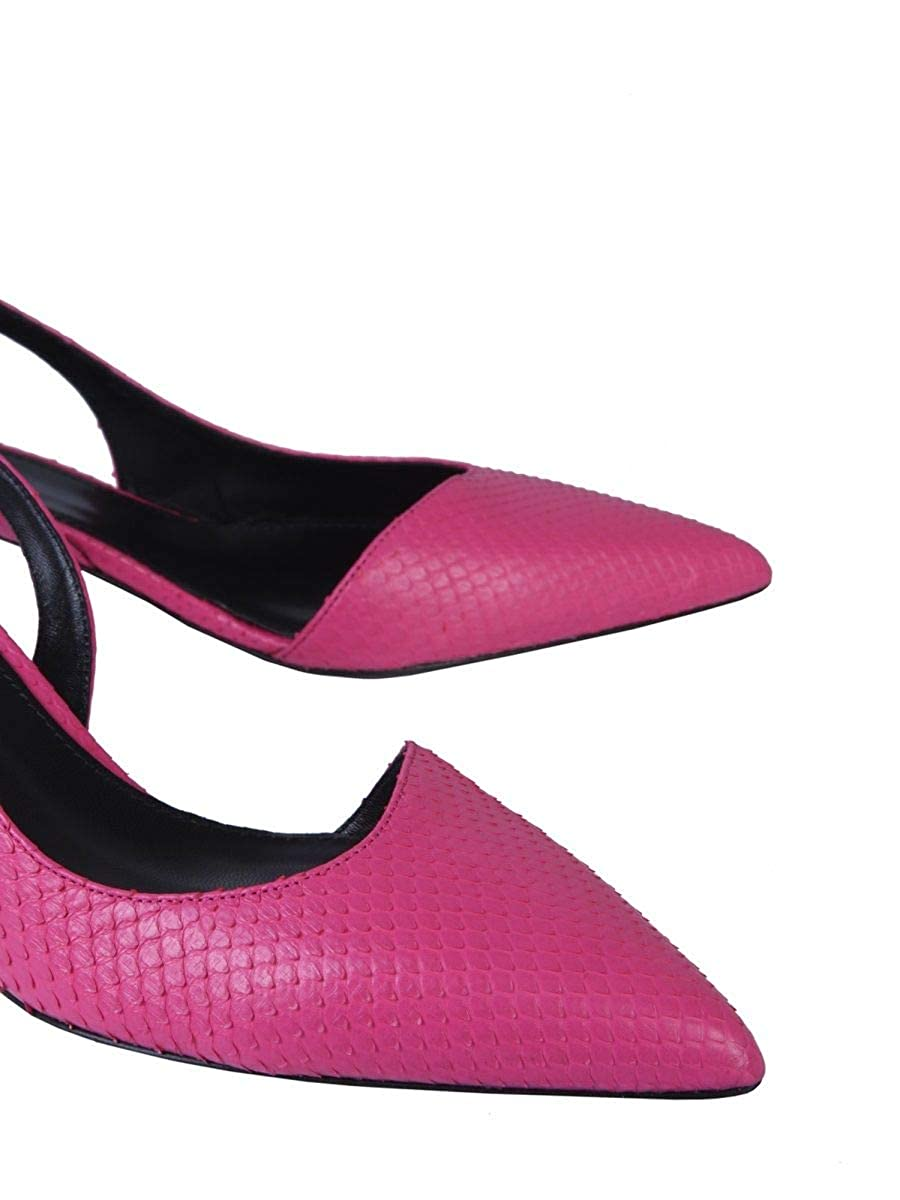 Lanvin Damen FWPUFP0BPIBUE19551 Fuchsia Leder Pumps: Amazon