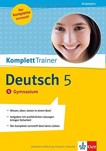 KomplettTrainer Deutsch 5. Klasse. Gymnasium