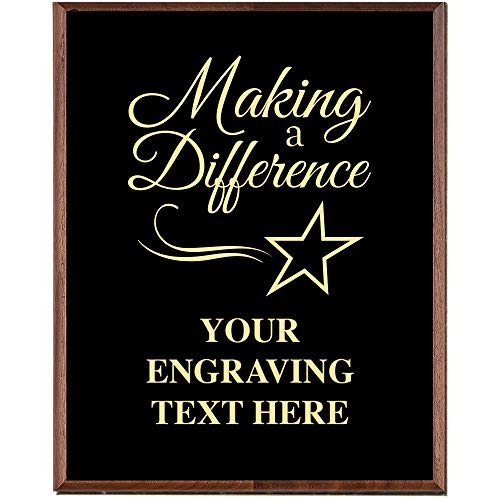 Crown Awards Corporate Above and Beyond Plaques - 8 x 10 Making A Difference Gold Etched Recognition Trophy Plaque Award Prime