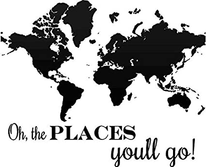 Amazon oh the places youll go dr suess inspirational dr suess inspirational decal gumiabroncs Choice Image