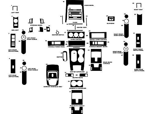 Rvinyl Rdash Dash Kit Decal Trim for Ford Explorer/Mercury Mountaineer 2006-2010 / Explorer Sport Trac 2007-2010 - Wood Grain (Burlwood Honey)